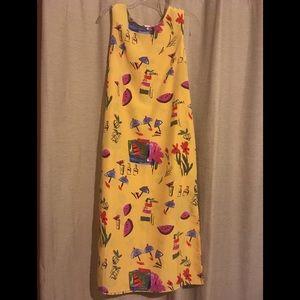 R&K Originals yellow watermelon print dress